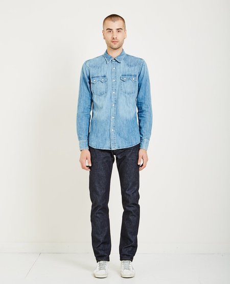 AR321 WESTERN WASHED SHIRT - LIGHT BLUE
