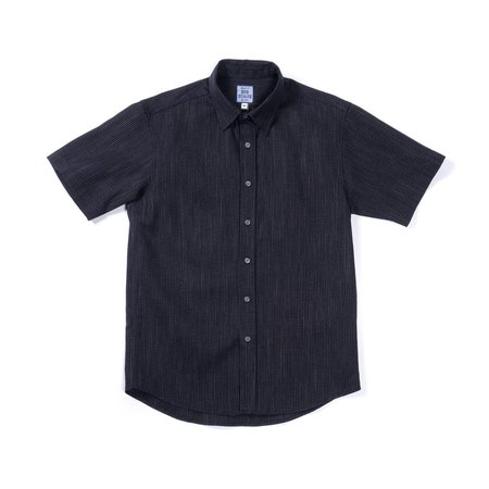 Product of Bob Scales Short Sleeve Shirt - Woven Tick Stripe