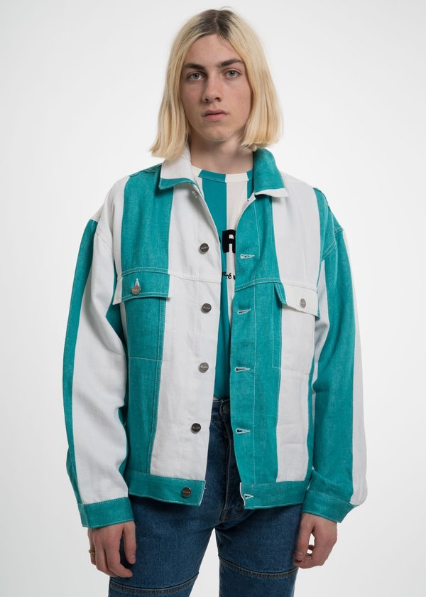 Études Stripe Vertige Linen Denim Jacket