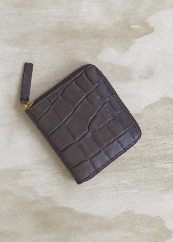 The Stowe Square Zip Wallet - Espresso