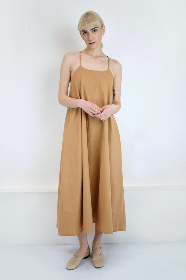 Micaela Greg Loop Dress in Camel