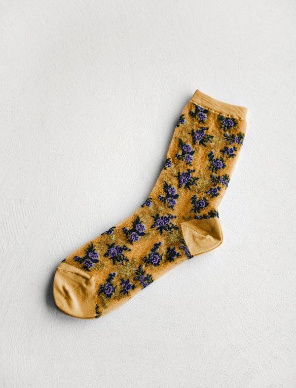 Ys by Yohji Yamamoto Tegusu Flower Socks