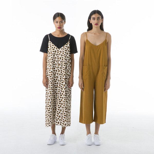 Ali Golden Slip Midi Dress - Guaq Print