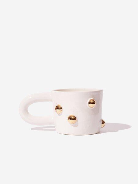 The Pursuits of Happiness Big Bump Mug - White/Gold