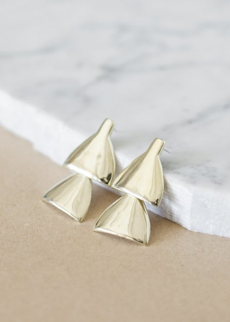 Seaworthy Lygo Earrings - Brass