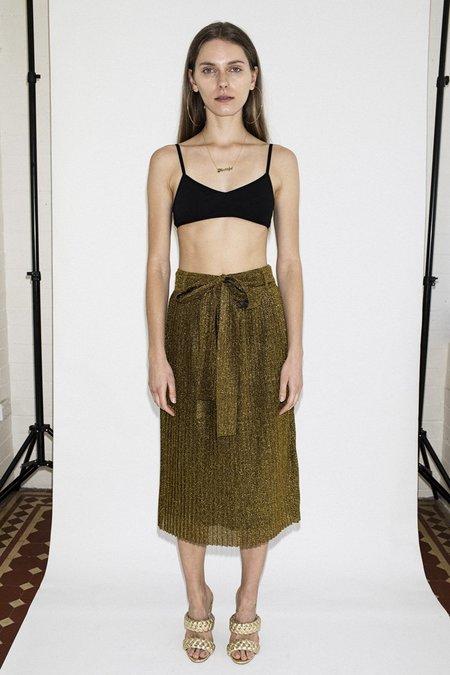 Lenni the Label Flow Midi Skirt –Gold