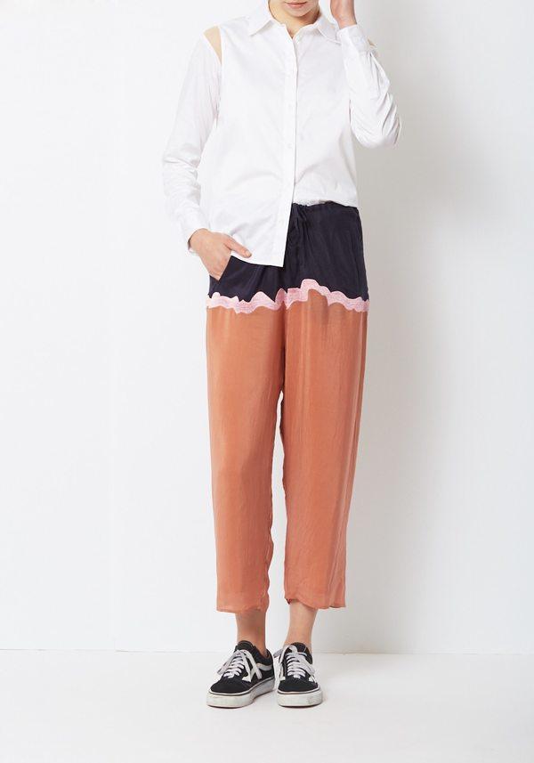 Nikki Chasin Enzo Drawstring Pant - Rust