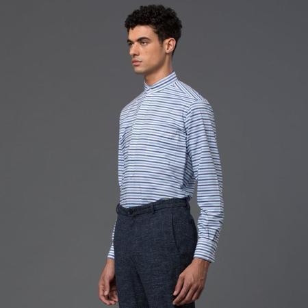 Palmiers Du Mal Villa Popover Shirt - Blue Stripe
