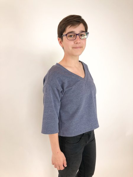 Corinne Collection Harry V-Neck - Chambray Blue
