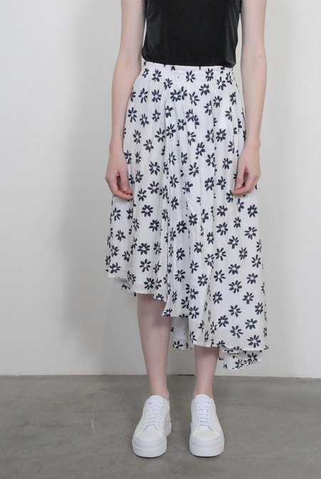 Apiece Apart Turkanna Asymmetric Skirt - Papyrus Flower