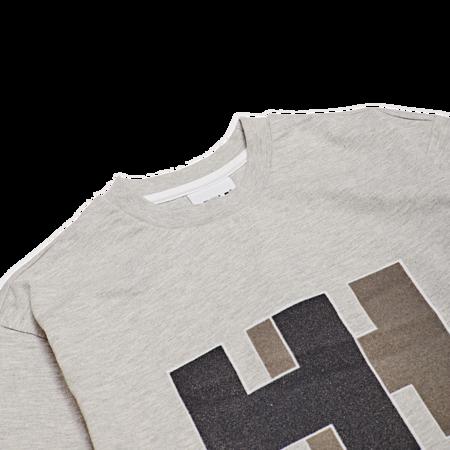 Unisex Helly Hansen Logo Tee - Grey Melange