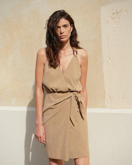 Nanushka Venus Wrap Front Mini Dress