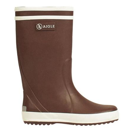 KIDS Aigle Child Lolly Pop Rubber Boot - Marron Brown