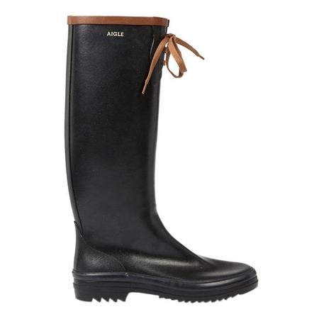 Aigle Miss Marion Boot - Black/Amber