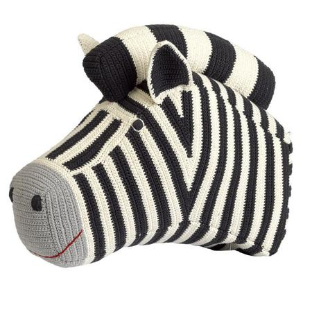 Kids Anne-Claire Petit Crochet Zebra Head Wall Art