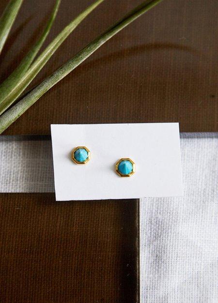Katie Diamond Astrid Studs - Turquoise