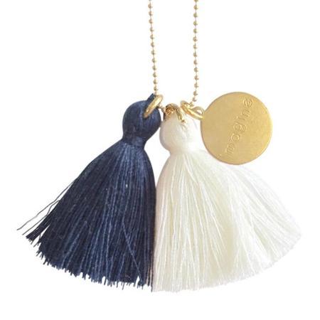 Atsuyo Et Akiko Imagine Jewellery Necklace - Gold Filled/Blue/Ivory