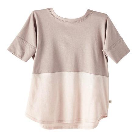 Kids Bacabuche Colour Block Tee - Fawn Blush
