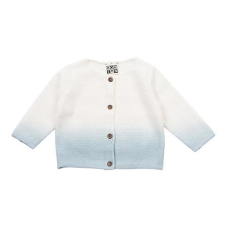 Kids Bonton Baby Long Sleeved Tie Dye Cardigan - Charles Blue