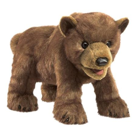 KIDS Folkmanis Brown Bear Cub Puppet - BROWN