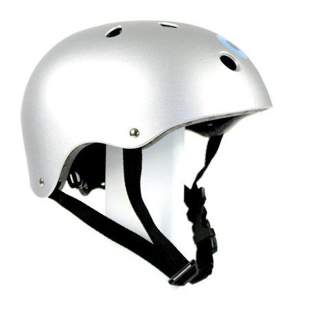 Kids Kickboard Micro Helmet - Silver