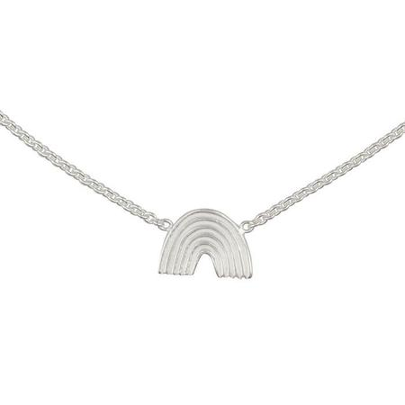 Kids Lennebelle Petites You Color My World Like A Rainbow Necklace - Silver