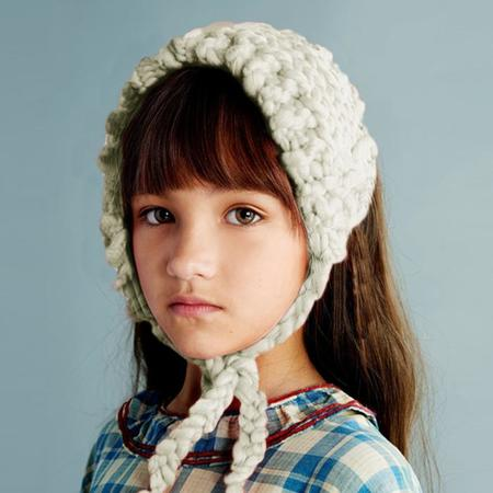 Kids Loopy Mango Merino No. 5 Earwarmer Bonnet - Polar Bear