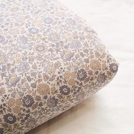 Makié Blanket - Beige/Blue Flower