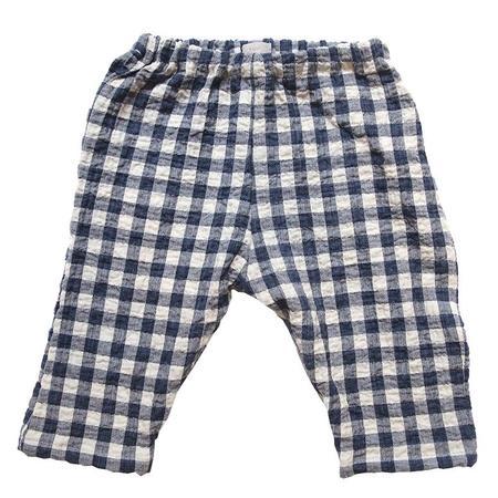 KIDS Makié Cotton Pants Perry - Navy Gingham