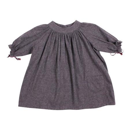 KIDS Makié Flannel Dress Lara - Charcoal