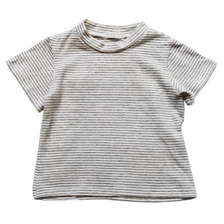 KIDS Makié Short Sleeved Tshirt Sam - Grey Stripe