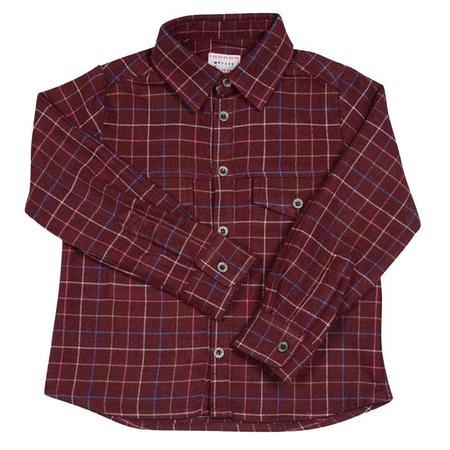 KIDS Morley Google Melton Boys Shirt - Bordeaux