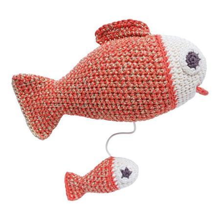 KIDS Moumout Paris Musical Pull Fish Toy - Cedre Orange