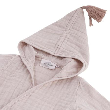 KIDS Moutmout Paris Pepin Muslin Bathrobe - Nu Pink