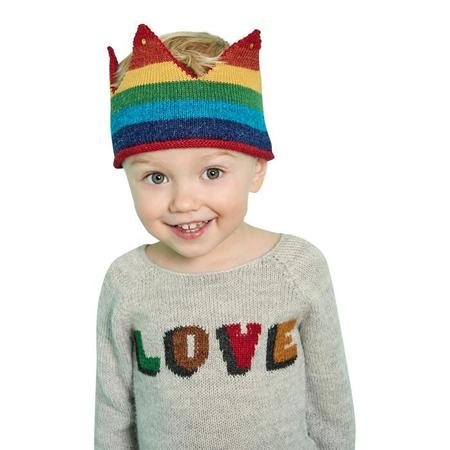 Kids Oeuf NY Oeuf Love Sweater - Light Grey/Multicoloured