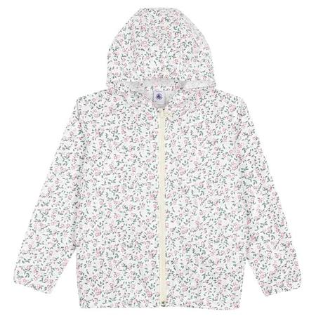 KIDS Petit Bateau Windbreaker - Marshmallow White/Multicolour