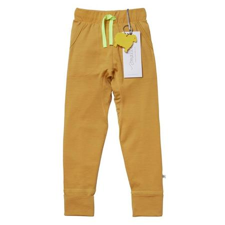 Kids Smalls 24 Hour Trouser - Mustard With Yellow Stitch