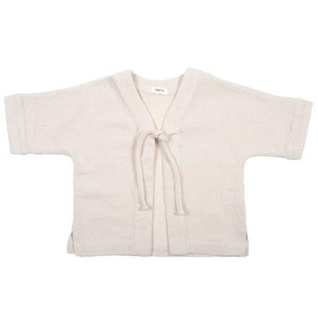 KIDS Tambere Short Sleeved Jacket with Tie - Cream