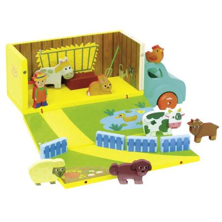 Kids Vilac Farm Set in Truck