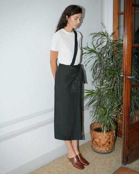 Nanushka Gala Sarong Skirt With Cross Body Strap - Black