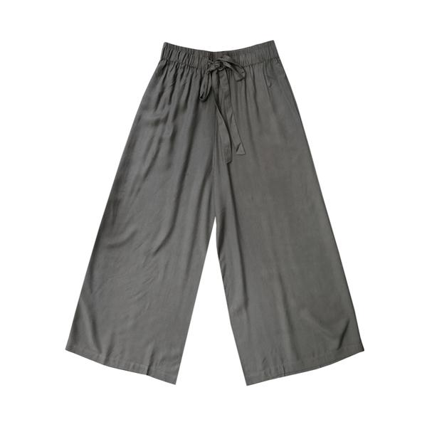 Ali Golden Drawstring Pant - Dark Grey