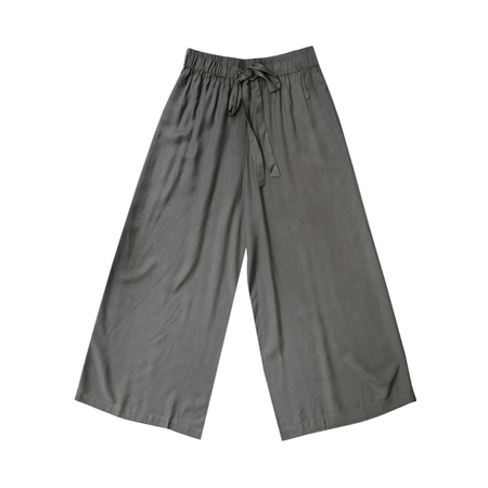 Ali Golden Drawstring Pant - Dark Grey