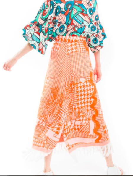 Tsumori Chisato Reef Creature Houndstooth Skirt