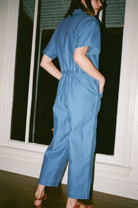 Caron Callahan Foster Jumpsuit - Faded Indigo Twill