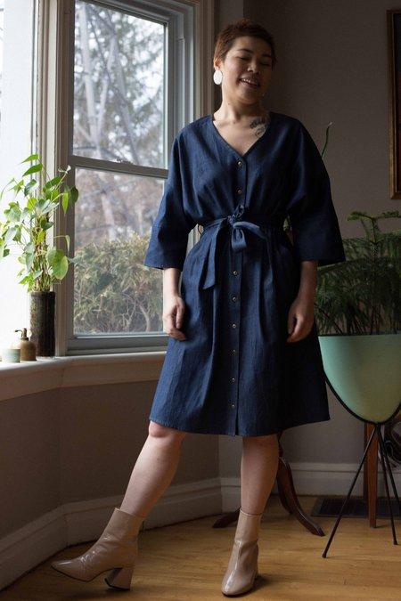 Eve Gravel Old Ideas Dress - Blue Denim