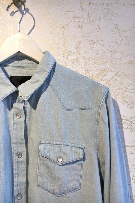 RtA Ashley Western Denim Shirt with Zips
