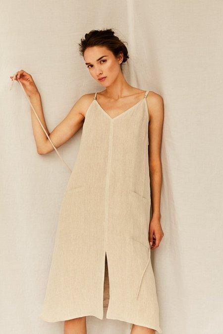 Devlyn Van Loon Patch Pocket Slip Dress - Cream