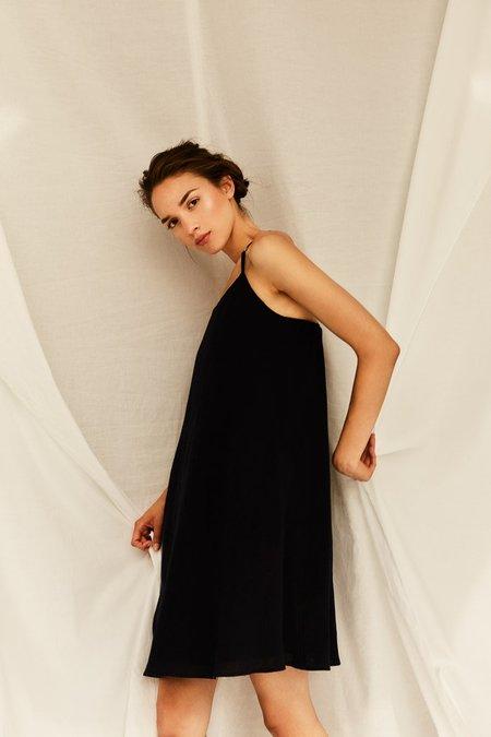 Devlyn Van Loon Slip Dress - Navy