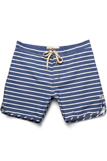 Mollusk Boardshorts - Navy Stripe