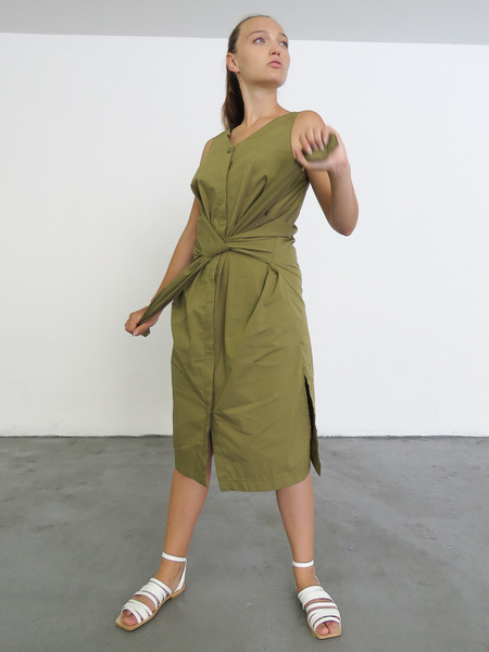 Sayaka Davis Sleeveless Shirt Dress